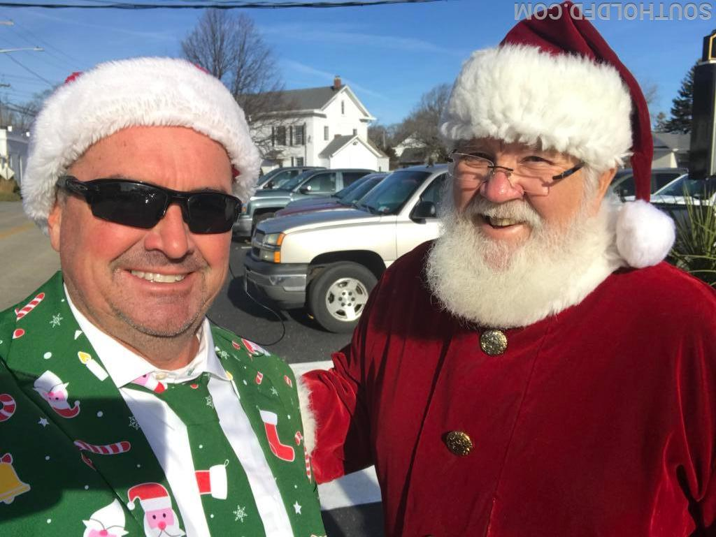 Chief Byrnes & Santa