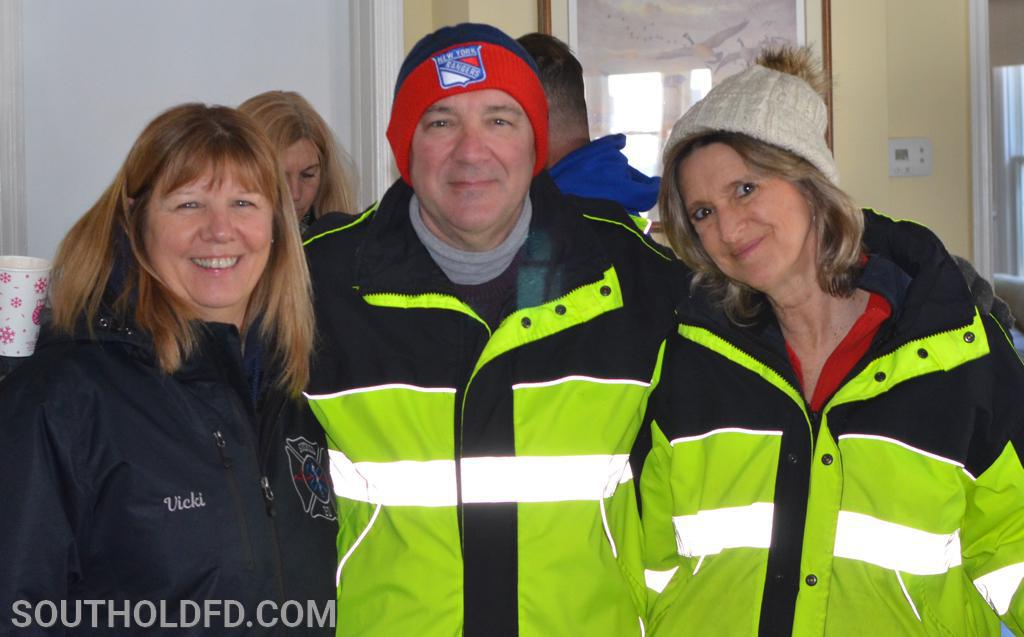 EMT's at the ready, Vicki, Mike and Karen.