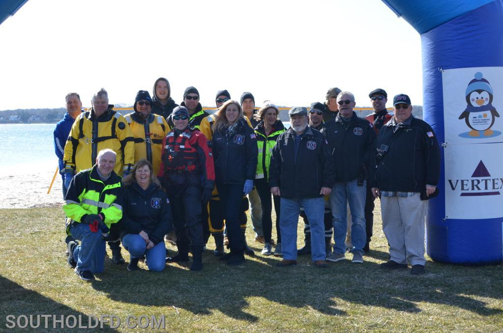 The SFD Polar Penguin Plunge stand-by support contingent.