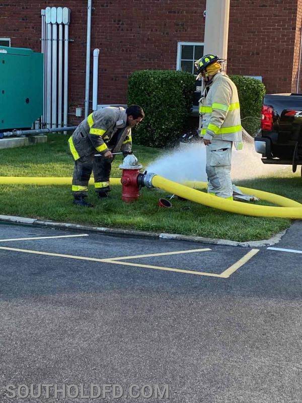 Check and flush the hydrant