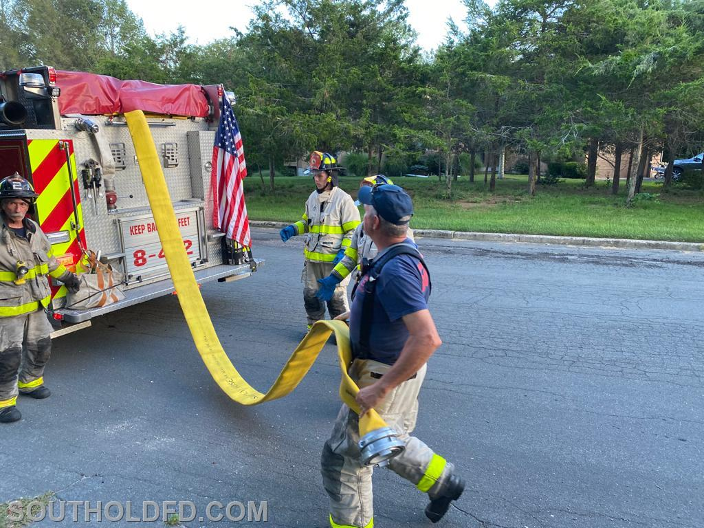 EX-Chief Bill Byrnes puts 'probys' through an exercise with LDH.