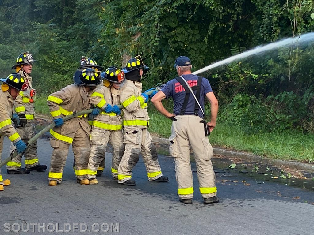 'Probys' and experienced firefighters alike gain practical experience.